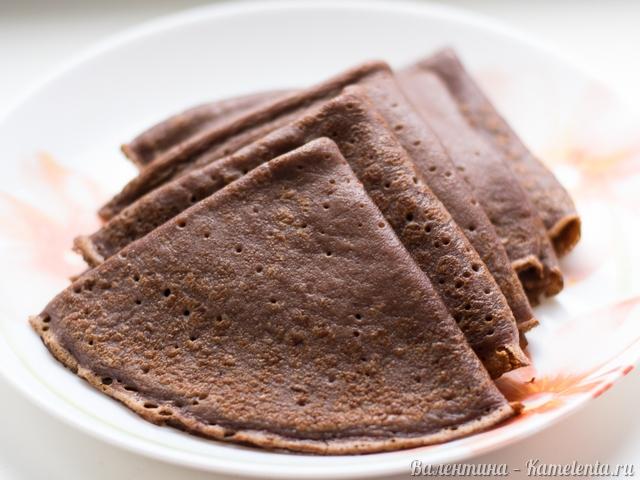 Шоколадные блины рецепт из какао