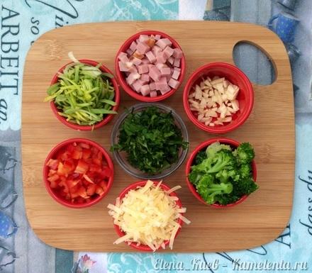 Приготовление рецепта Фриттата с ветчиной и овощами шаг 2