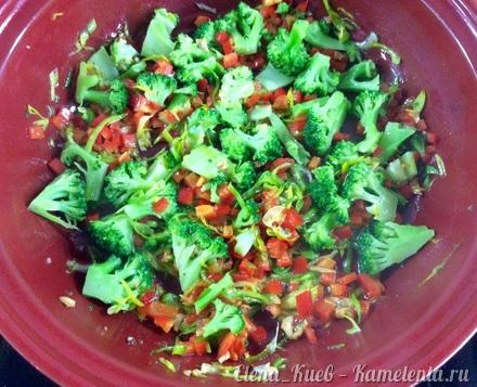 Приготовление рецепта Фриттата с ветчиной и овощами шаг 10