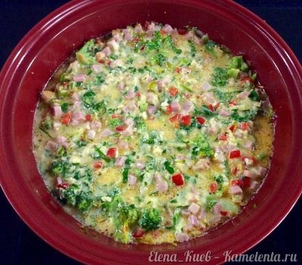 Приготовление рецепта Фриттата с ветчиной и овощами шаг 12