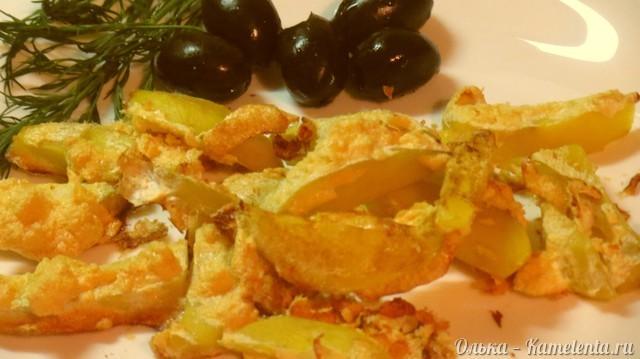 Рецепт Хрустящий картофель, запеченный в яичном белке