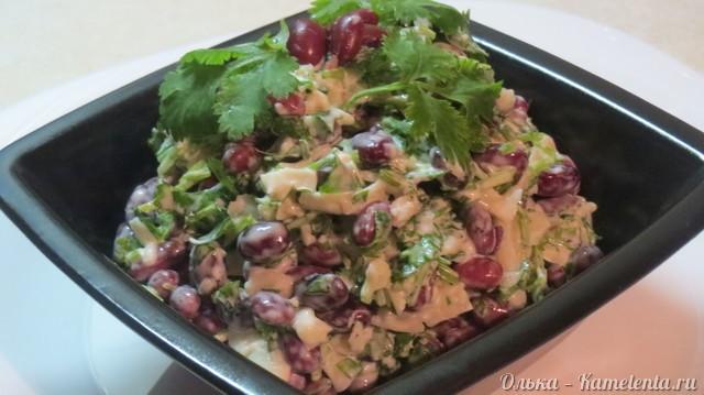 Пошаговый рецепт салата из фасоли
