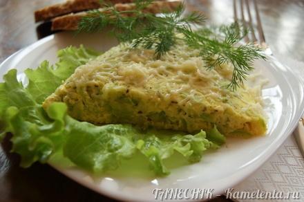 Приготовление рецепта Нежный омлет с кабачками шаг 7