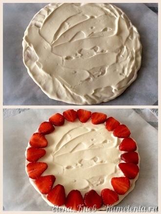 Приготовление рецепта Летний клубничный торт шаг 15