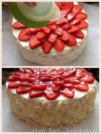 Приготовление рецепта Летний клубничный торт шаг 18