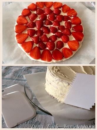 Приготовление рецепта Летний клубничный торт шаг 16