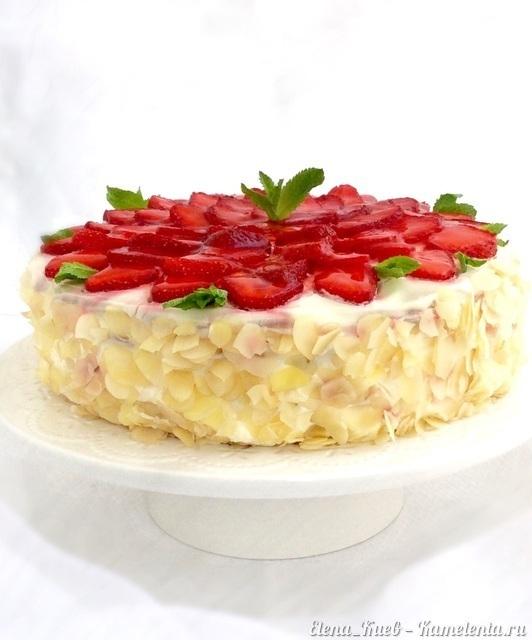 Как приготовить вкусный торт с клубникой — 6