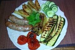 Карнацеи с картофелем и овощами на гриле