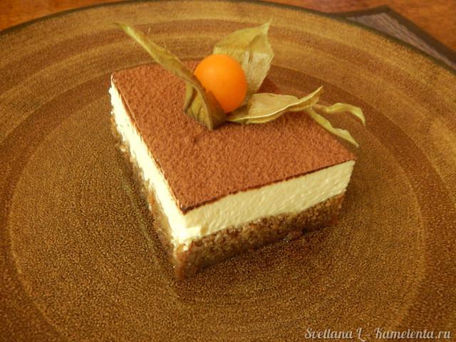 Тирамису торт со сливками рецепт