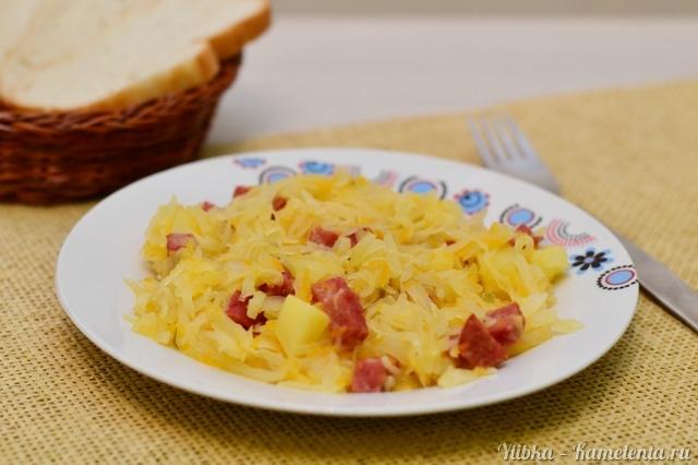 Рецепт бигуса с колбасой