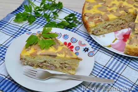 Пирог с шампиньонами рецепты фото