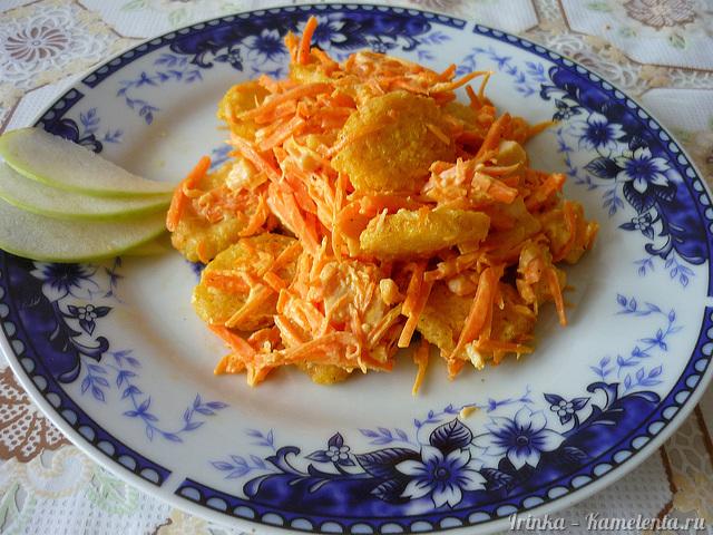 рецепт салата виноград и копченая курица