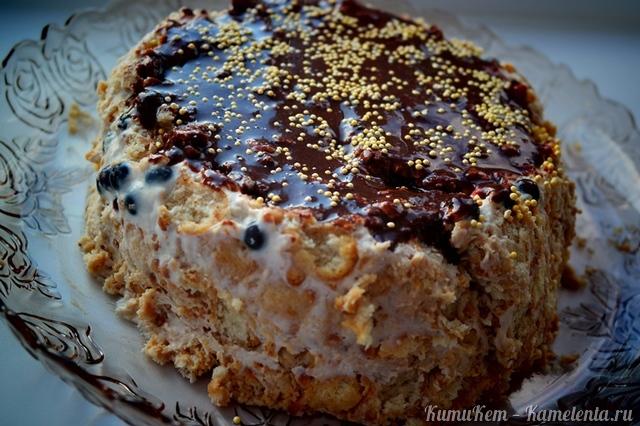 рецепт торт з крекеру