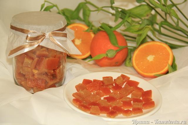 Рецепт апельсиновых цукатов