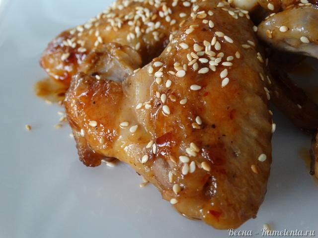 Рецепт куриных крыльев в остро-сладкой глазури