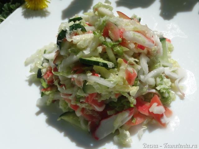 Рецепт салата с маринованным имбирём