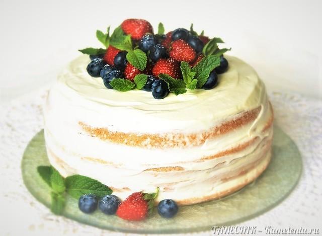 "Рецепт ""Naked cake"" или голый торт"