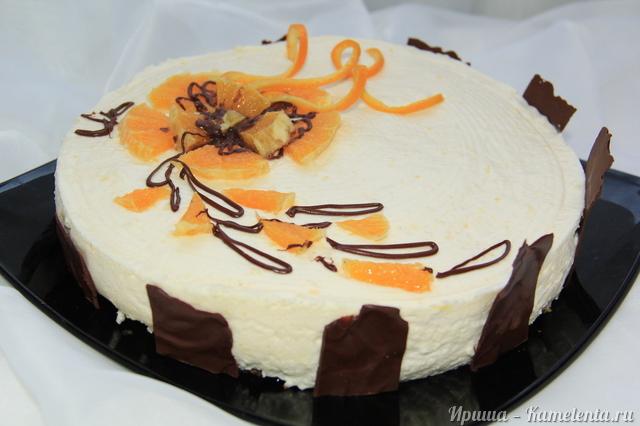"""Рецепт муссового торта """"Апельсиновый восторг"""""""