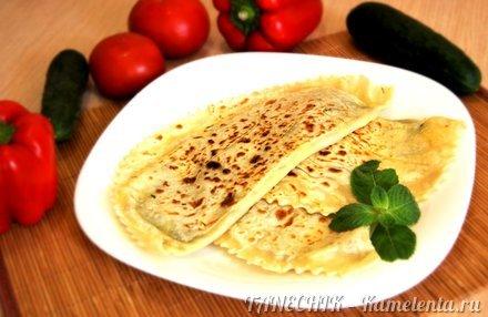 Приготовление рецепта Кутабы с зеленью и сыром шаг 10