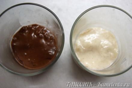 Приготовление рецепта Шоколадно-ванильный пудинг шаг 6