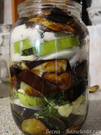 Приготовление рецепта Салат из баклажанов на зиму шаг 12