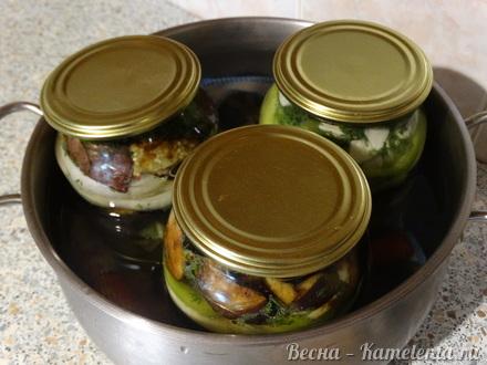 Приготовление рецепта Салат из баклажанов на зиму шаг 14