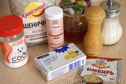 Приготовление рецепта Медовое печенье с имбирем шаг 1