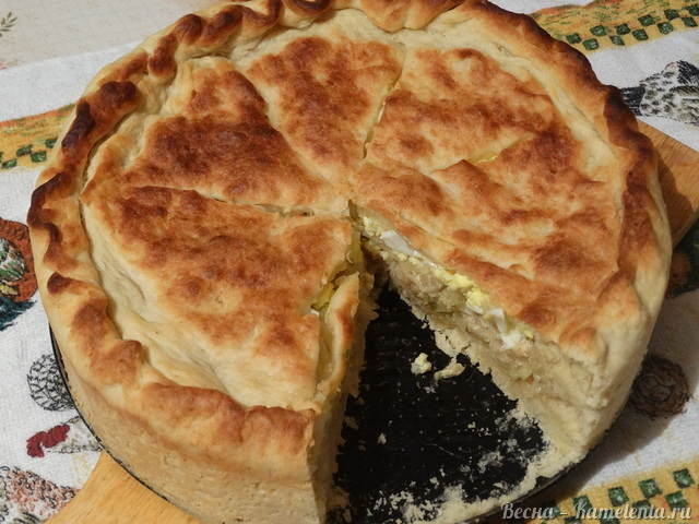 Рецепт капустного пирога с молочной капустой