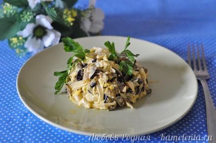 Приготовление рецепта Салат из баклажанов, яиц и лука. шаг 8