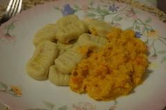 Картофельные ньокки с тыквенным соусом