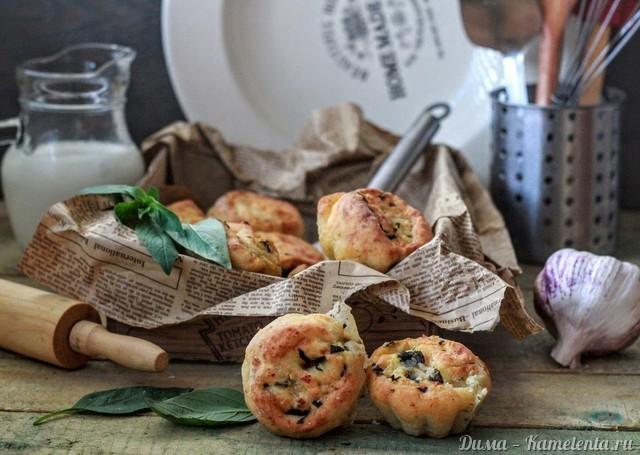 Рецепт сырных булочек с чесноком и базиликом