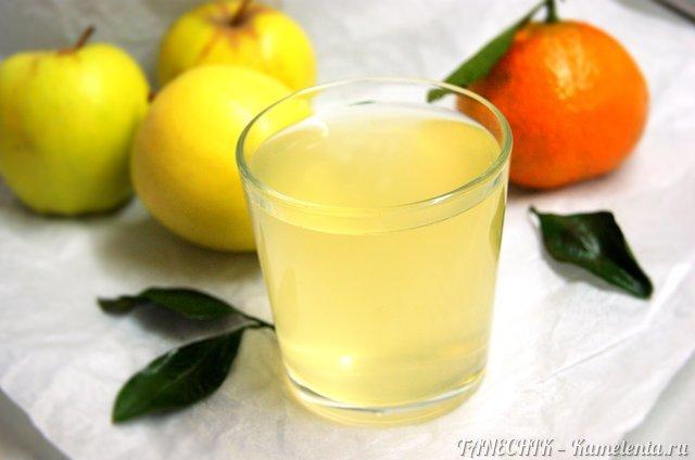 Рецепт яблочно-мандаринового компота