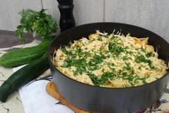 Жареные макароны с сыром