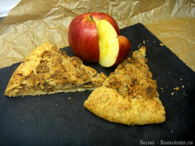 Рецепт яблочной галеты с грецким орехом