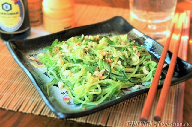 Рецепт салата из огурцов по-азиатски