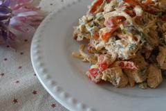 Салат с курочкой и болгарским перцем