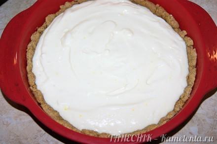 Приготовление рецепта Пирог с маскарпоне и персиками шаг 6