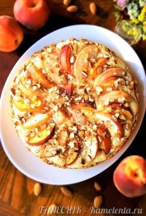 Приготовление рецепта Пирог с маскарпоне и персиками шаг 10