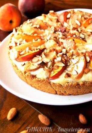 Приготовление рецепта Пирог с маскарпоне и персиками шаг 9