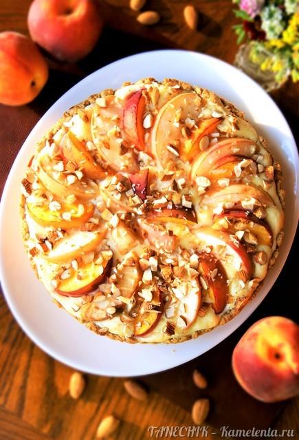 Рецепт пирога с маскарпоне и персиками