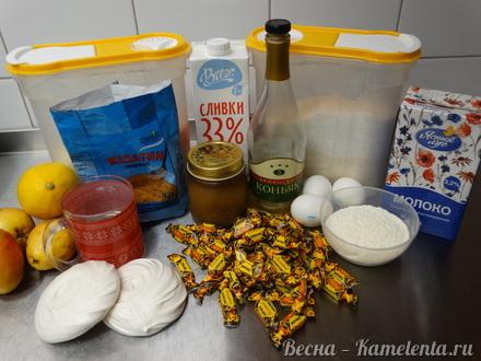 Приготовление рецепта Грушевый торт с пряной начинкой из грушевого джема и нежного суфле шаг 1