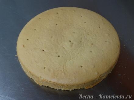 Приготовление рецепта Грушевый торт с пряной начинкой из грушевого джема и нежного суфле шаг 5