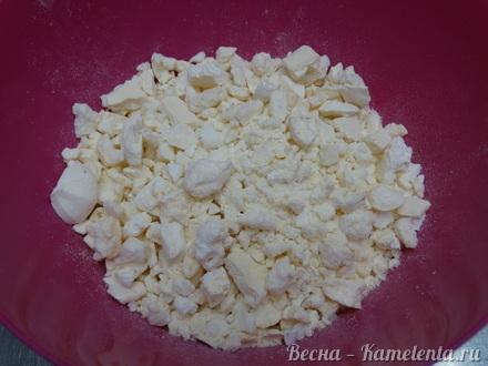 Приготовление рецепта Грушевый торт с пряной начинкой из грушевого джема и нежного суфле шаг 16