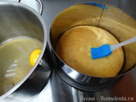 Приготовление рецепта Грушевый торт с пряной начинкой из грушевого джема и нежного суфле шаг 14