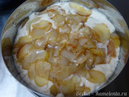 Приготовление рецепта Грушевый торт с пряной начинкой из грушевого джема и нежного суфле шаг 21