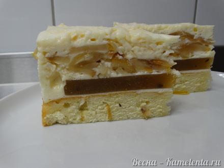 Приготовление рецепта Грушевый торт с пряной начинкой из грушевого джема и нежного суфле шаг 23