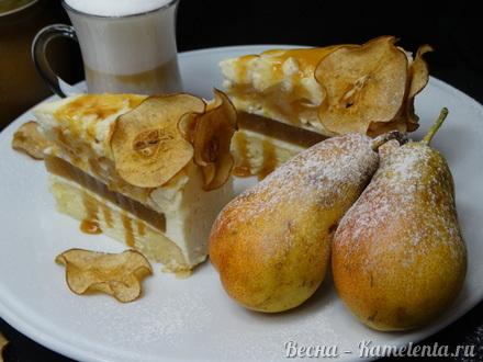 Приготовление рецепта Грушевый торт с пряной начинкой из грушевого джема и нежного суфле шаг 24