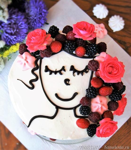"""Рецепт торта """"Молочная девочка"""" (Milch Mädchen) с йогуртовым кремом и фруктами-ягодами"""