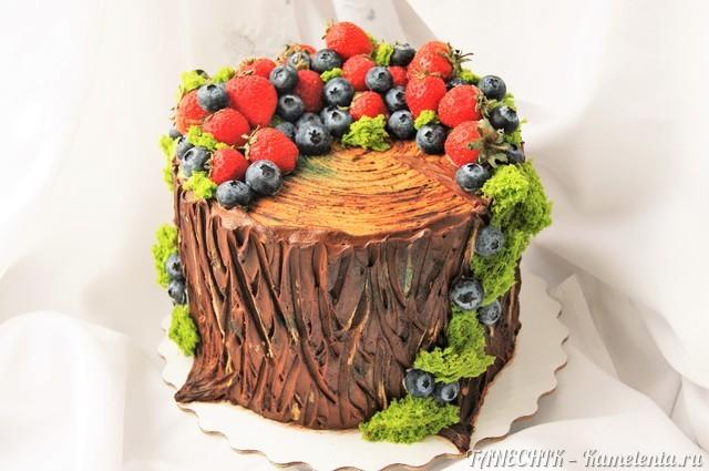 """Рецепт торта """"Пенек"""" (декорирование)"""