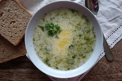 Лёгкий суп из кабачков
